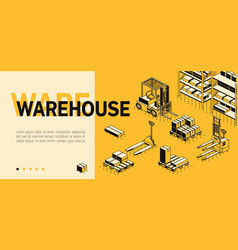 3d isometric site template - warehouse vector