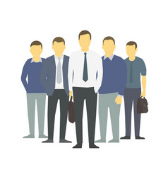 a group people workers team businessmen vector image