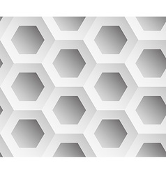 Abstract background gray hexagons vector image
