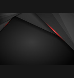 Abstract metallic red black frame layout modern vector