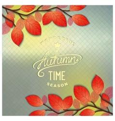 Autumn window background vector