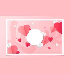 beautiful cartoon invitation template with love vector image