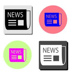 bent newspaper flat icon vector image