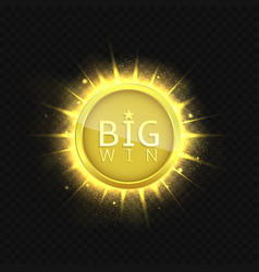 big win label vector image