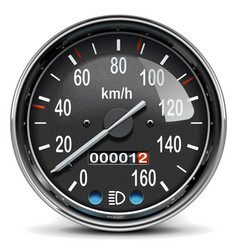 black mechanical speedometer icon vector image