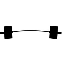 Black silhouette barbell vector