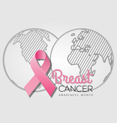 breast cancer awareness month poster or banner vector image