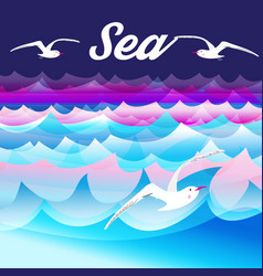 bright sea background vector image