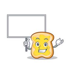 Bring board slice bread cartoon character vector