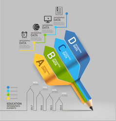 Business education pencil Infographics vector image