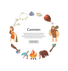 cartoon cavemen vector image