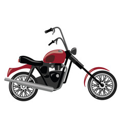 cartoon motorcycle of vector image