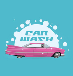 carwash service concept with side vector image
