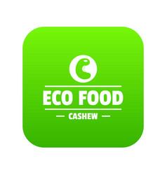 Cashew icon green vector