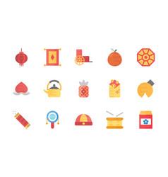 China flat icons set vector