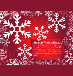 christmas and new year typographical on background vector image