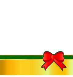 christmas bow on white background vector image
