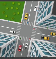 City Street Top View vector image