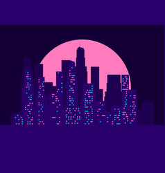 cityscape with skyscrapers in the style of the vector image