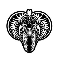 Cobra face icon black the emblem with king vector