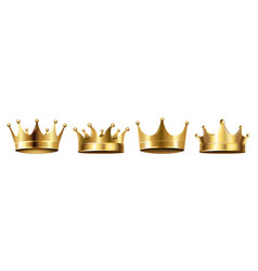 crown set isolated white background vector image