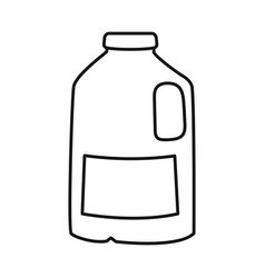 Design gallon and milk logo set of vector