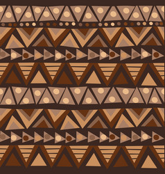doodle african pattern with geometric motifs vector image