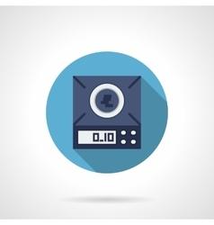 Electronic balance flat round icon vector image