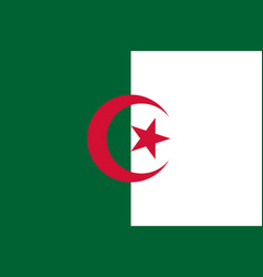flag of algeria official colors and proportions vector image
