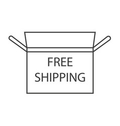 Free shipping icon vector