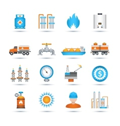 Gas Icons Set vector