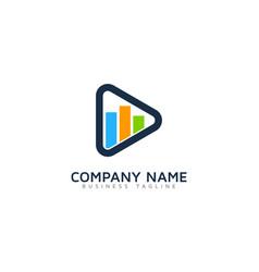 graph video logo icon design vector image