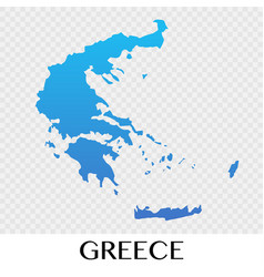 Greece map in europe continent design vector