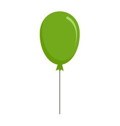 green balloon icon flat style vector image