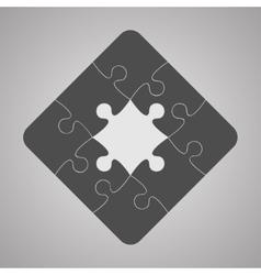 Grey Puzzles Pieces JigSawI Icon Symbol - 9 vector image