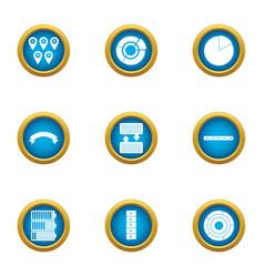 Interchange icons set flat style vector