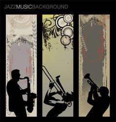 Jazz music background set vector