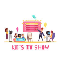 kids tv show composition vector image