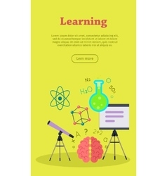 Learning Web Banner Website template vector