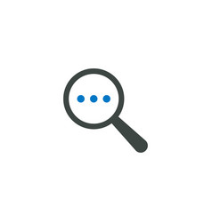 magnifying glass icon three dots icon vector image