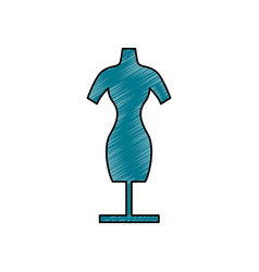 manikin model clothes vector image