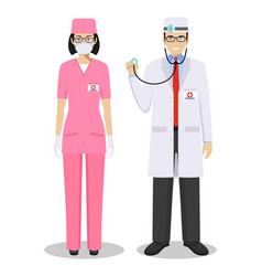 Medical teamwork concept detailed vector