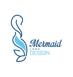 Mermaid logo design on a white vector
