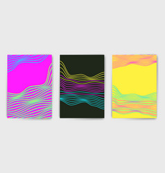 minimalistic templates with lines vector image