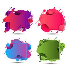 Modern abstract liquid shape fluid elements vector