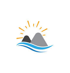 mountain icon logo template vector image