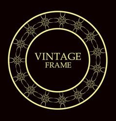 ornamental round frame vector image