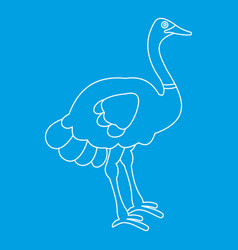 Ostrich icon outline style vector