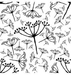 Out bloom caraway seamless pattern vector