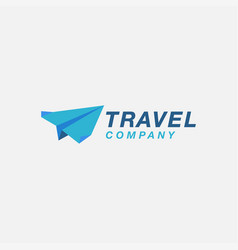 paper plane logo icon abstract traveling logo vector image